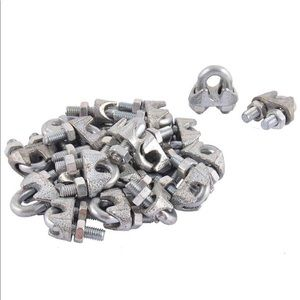 3/16 Inch Metal Wire Rope Clamps Clips - 12 PCS